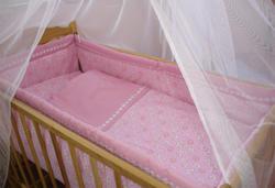 """Руно комплект в детскую кроватку """"Капитошка"""" 7 предметов Розовый 973У.1"""
