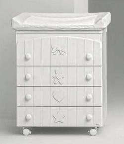 MIBB пеленатор с ванночкой BLANCHE White 451em