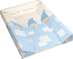 Ceba Baby пеленальный матрасик жесткий с подголовником 50х80 Good Night Голубой PMGP5080-01