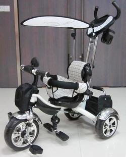 Lexus Trike велосипед трёхколёсный KR-01 с колесами из литой резиновой шины Белый KR-01W