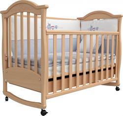 Верес кроватка детская с резьбой Соня ЛД 3 Бук 03.01ver