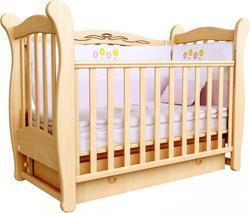 Верес кроватка детская Соня ЛД 15 (маятник с ящиком) Бук 15.01ver