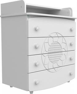 Верес комод-пеленатор МДФ Белый (подсолнух) 25.2.06ver
