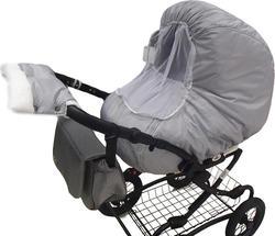 Mamamaster комплект: чехол на коляску + муфта для рук Серый MM011mm00