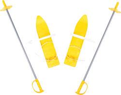 Marmat лижі дитячі 40 см (з палицями) Marmat лыжи детские SKI-31-98
