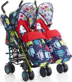 Cosatto коляска для двойни SUPA DUPA Cuddle Monster 2 СТ3084