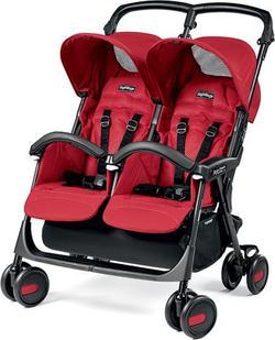 Peg-Perego прогулянкова коляска для двійні Aria Shopper Twin Classico Mod Red (красная) IP07280062EB49RO49