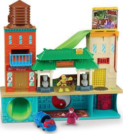 TMNT Черепашки-ниндзя Малыши игровой набор - Штаб-квартира с фигурками Штаб-квартира с фиг. Майки и Сплинтера 96901kd