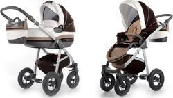 Tako универсальная коляска Baby Heaven Exclusive New 1, белый+коричневый 10038zm