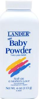Lander присыпка для детей Baby Powder Baby Powder 113 г 813822010023