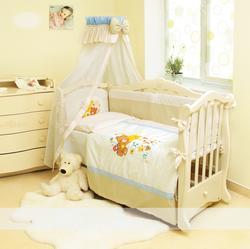 Twins постельное белье Evolution для новорожденных А-011 Ведмедик на місяці 7 ел голубий 3389tw