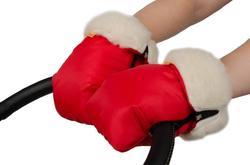 Kinder Comfort муфта-рукавицы на овчине 3 в 1  красная 600804or