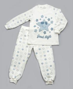Модный карапуз пижама для малышей голубые звезды 92 синие звезды 03-00673-92 молоко синие звезды
