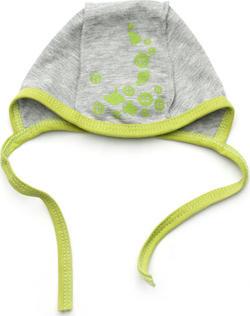 Модный карапуз шапочка для младенца серая 36 серый с салатовым 303-00026-36 серый с салатовым