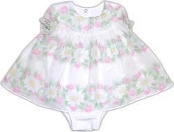 "Garden baby боди-платье ""Букет ромашек"" 68 19343-16/35-68-ромашки/білий"