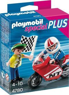 Playmobil конструктор «Special Plus» мальчики с гоночным мотоциклом 4780ep