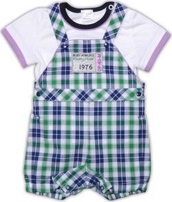 """Garden baby """"Премиум клуб"""" комплект  68 42140-03/38-68-білий/синьо-зелена кліт."""