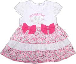 "Garden baby боди-платье ""Цветочный автомобильчик"" 68 19346-16-68-білий/квіточки"