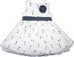 """Garden baby платье """"Музыкальные нотки""""  92 45035-41-92-білий нотки чорні"""