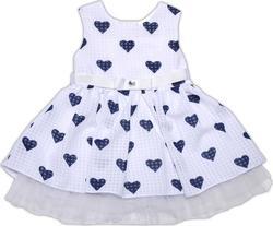 "Garden baby платье ""Модное платьице"" 80 45039-35-80-білий/сині сердечка"