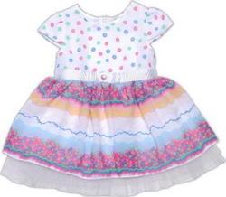 """Garden baby платье """"Сладкая мечта""""  80 45041-41-80-горох на рожев."""