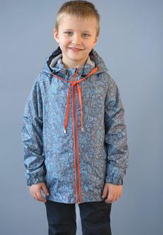 Модный карапуз ветровка для мальчиков серый 92 03-00634-92-морская серый