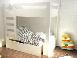 Indigowood двухъярусная кровать Cubed с ящиком 34747-indigo