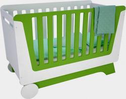 Indigowood ліжко «Nova kit» зі знімною спинкою і колесами і ящиком белый/зеленый 34332-indigo
