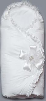 """Модный карапуз конверт-одеяло весенний """"Сказка""""-3 белый 07-00033-3-белый"""