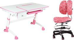 FunDesk стол-трансформер Amare с выдвижным ящиком + детское кресло SST6 Pink Amare with drawer Pink +SST6 Pink