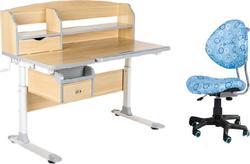 FunDesk стол-трансформер Sognare Grey + детское кресло SST5  Blue Sognare Grey +SST5 Blue