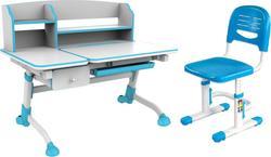 FunDesk стол-трансформер Amare II с выдвижным ящиком + детский стул SST3 Blue Amare II with drawer Blue+SST3 Blue
