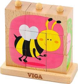 Viga Toys пазл-пирамидка Насекомые 50158afk