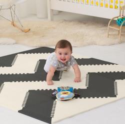 Skip Hop игровой коврик-пазл Playspot Geo Black/Cream 245211cs