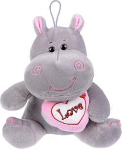 Morgenroth мягкая игрушка Бегемотик 38 см с розовым сердцем ABM48349GA-38