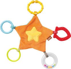 Fehn мягкая игрушка Платочек с прорезывателем для зубов Звездочка 67736