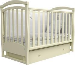 Верес кроватка детская без колёс Соня ЛД 6 (маятник+ящик)  слоновая кость 06.1.61.1.04ver