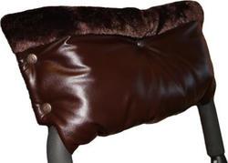 Mamamaster муфта для рук Муфта двойная из кожи коричневая MM00112