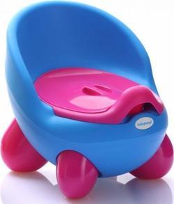 Babyhood дитячий горщик Кью Кью голубо-розовый BH-105B
