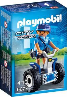 """Playmobil конструктор серии """"Полиция, спасатели"""" Женщина-полицейский на сигвее 6877ep"""