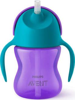 Avent чашка с трубочкой 210мл 9 мес., для девочек 8710103781912