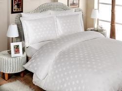 Hobby постельное белье Bamboo Diamond Round семейное белый 117976_сім.bt