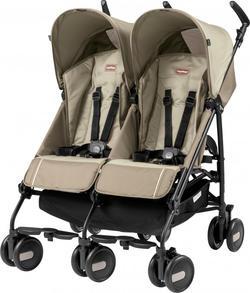 Peg-Perego прогулочная коляска для двойни Pliko Mini Twin Classico CLASS BEIGE IP04280000SU36SU56