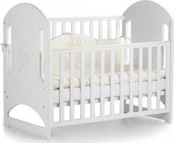 Верес кроватка детская Соня ЛД 8 ЕС Белый (мишка со стразами) 08.1.1.20.06ver