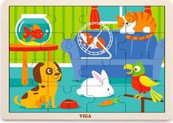 Viga Toys пазл 16 элементов Домашние питомцы 51453afk