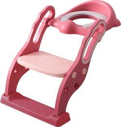 Babyhood дитяче сидіння на унітаз Трансформер з драбинкою і поліуретановим кільцем розовое BH-131PP
