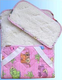 Руно комплект в коляску Розовый 941