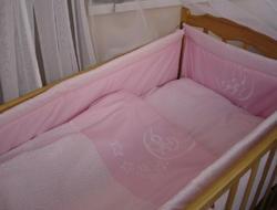 """Руно комплект в детскую кроватку """"Дрьома"""" с вышивкой 7 единиц Розовый 971У.1"""