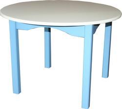 MyBaby стіл дитячий круглий Journey Ваниль/голубой 180202