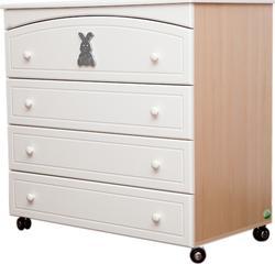 MyBaby комод широкий  Glamour Bunny ваниль 030303/03